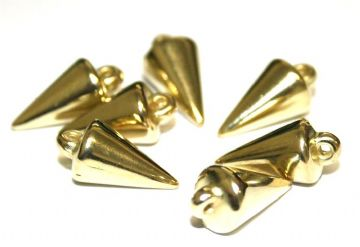 90pcs x 18mm*9mm spike beads -- spike charms - Finish: gold